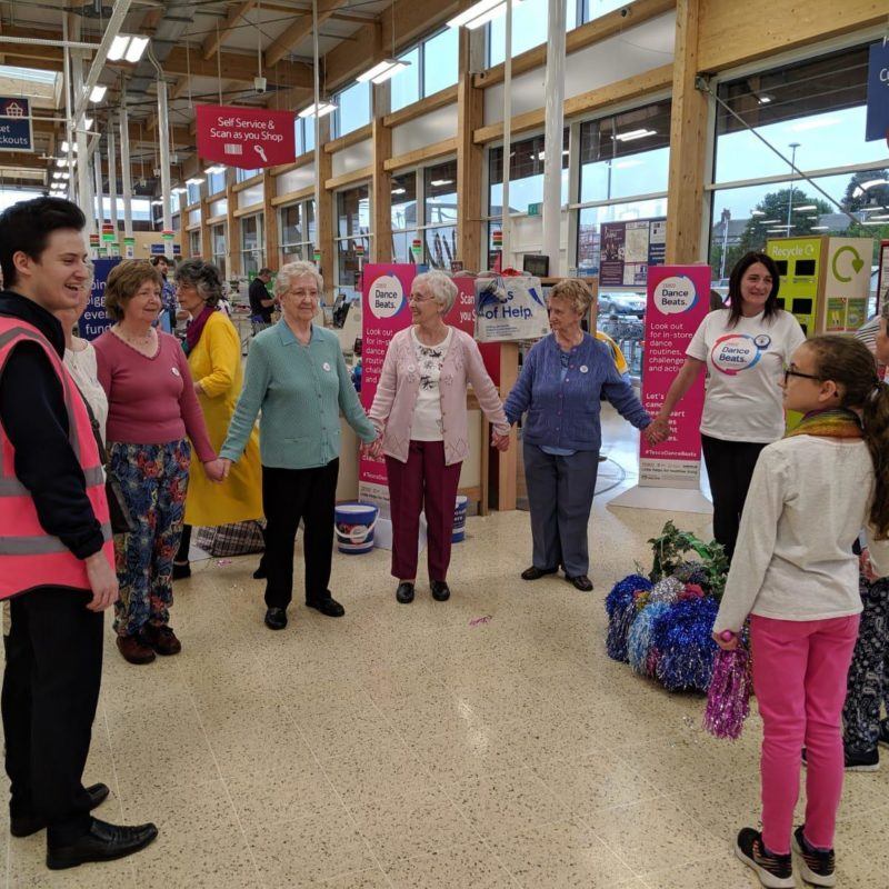 Tesco Dancing With Staff