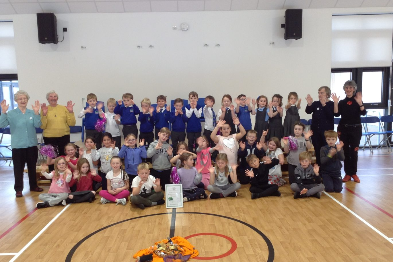 Planting Trees at Underbank Primary School South Lanarkshire -